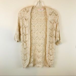 Pink Republic Lace Shrug